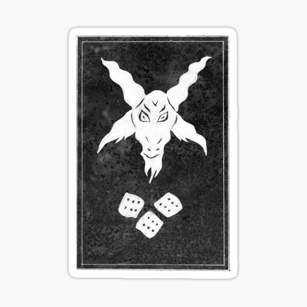 lucky goat black&white Sticker
