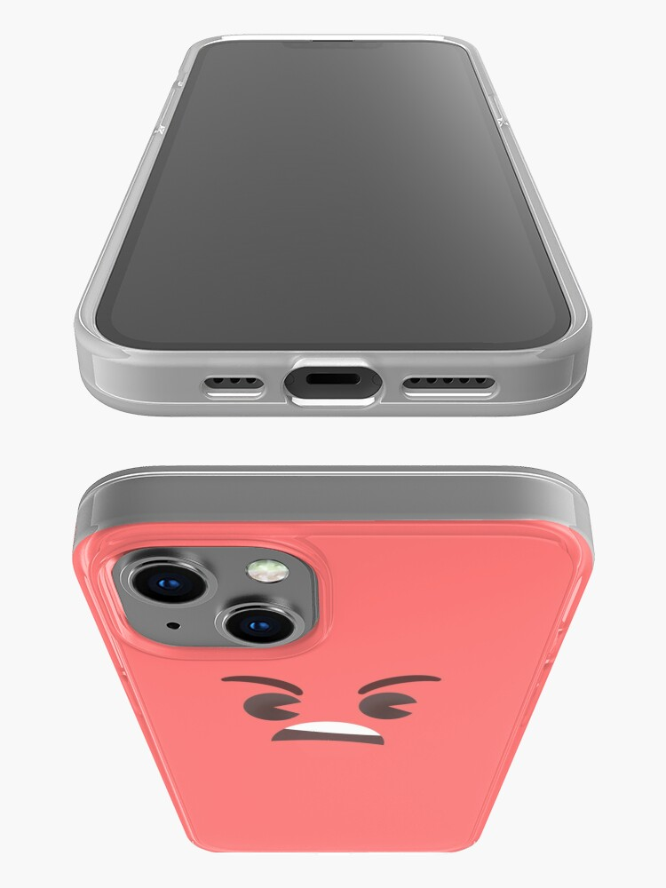 Alternate view of Angry Little Face - Tomato iPhone Case