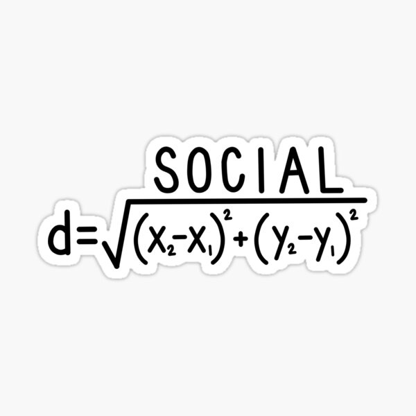 Social Distance (formula) Sticker