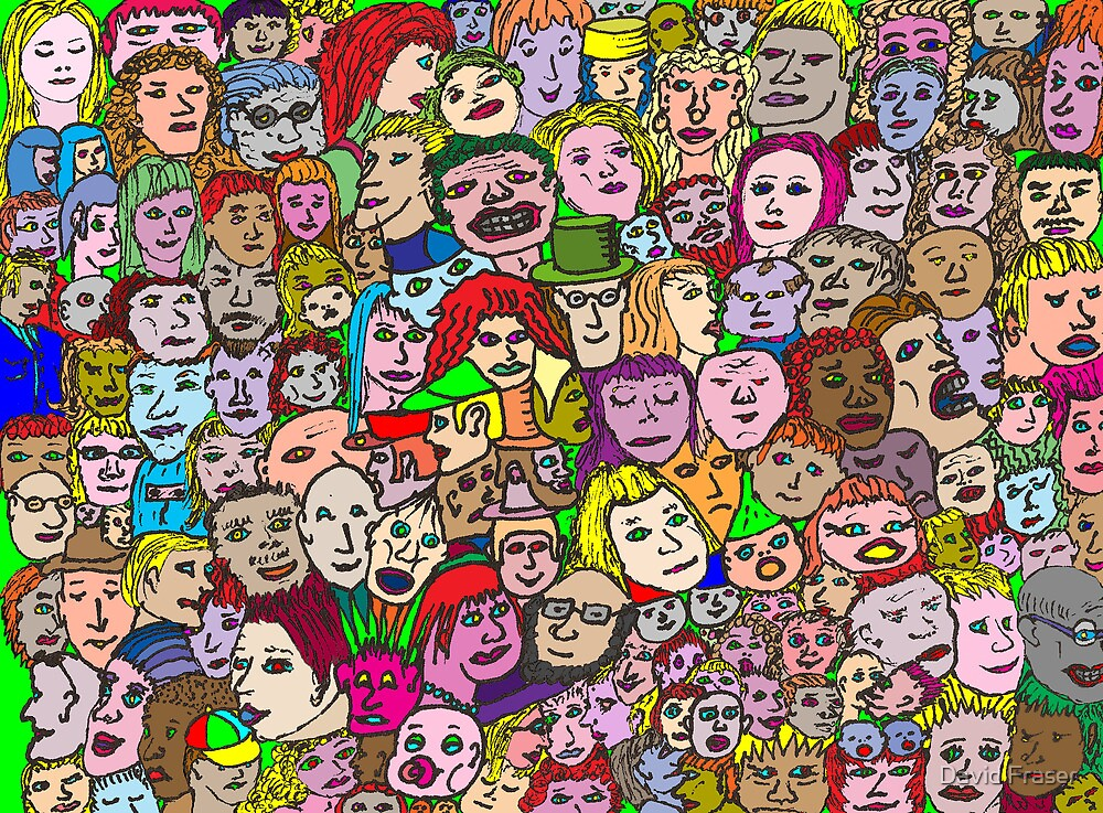 The Crowd by David Fraser