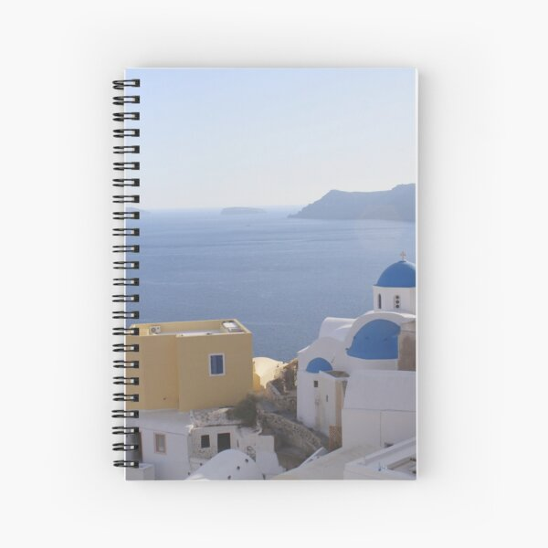 Ocean view, Santorini Oia Greece Spiral Notebook