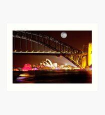 Full Moon Sydney Art Print