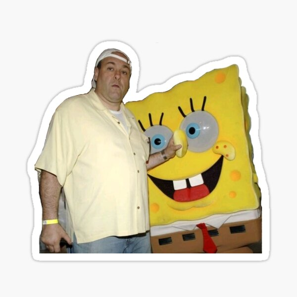 James Gandolfini with Spongebob sticker Sticker