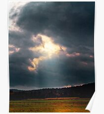 Storm Clouds Over a Corral Poster