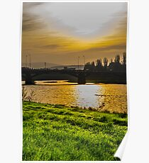 Sunrise over the river  Poster