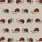 Cute Snail Cartoon Pattern by thejoyker1986