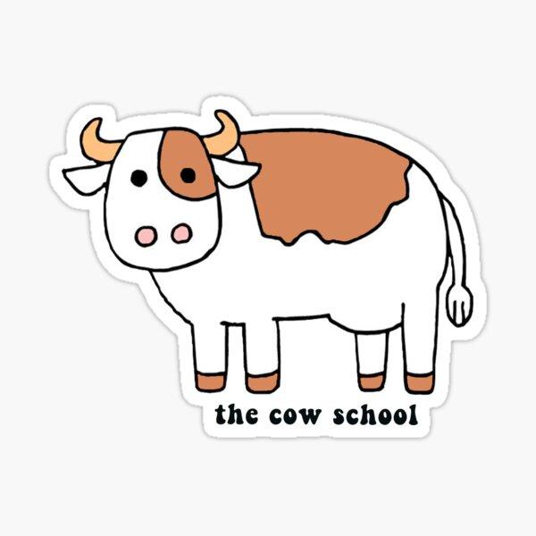 The cow school Sticker