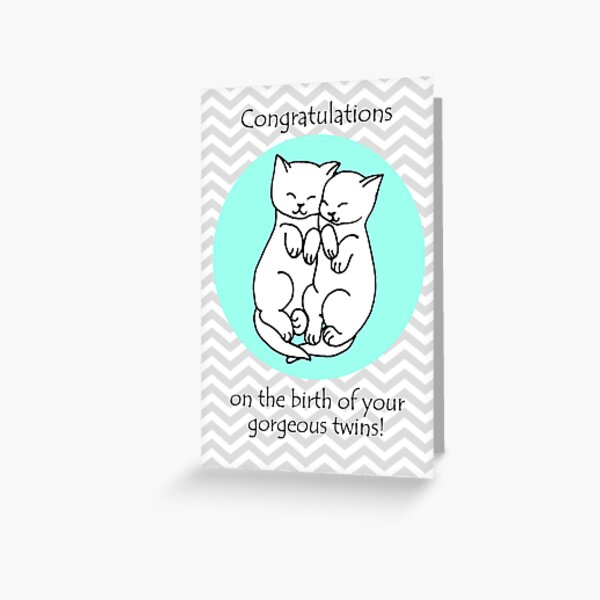 Congratulations on the birth of your twins! Greeting Card