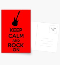Keep Calm And Rock On Postcards