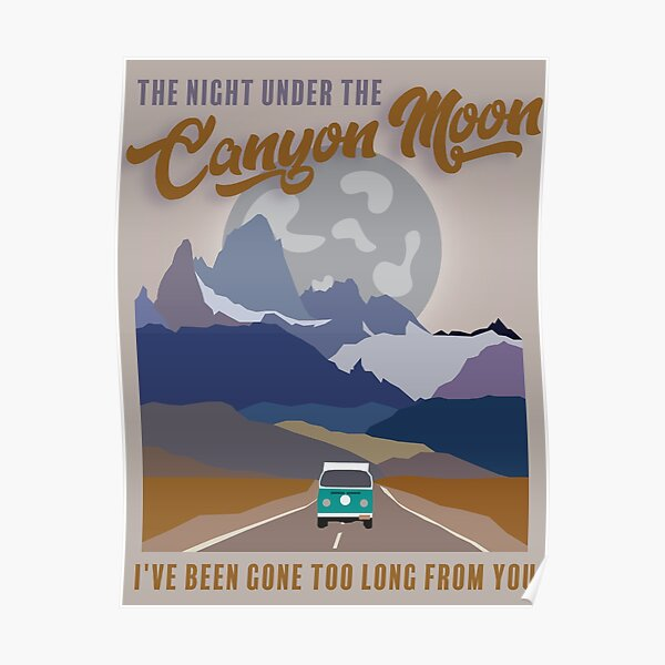 hs canyon moon Póster