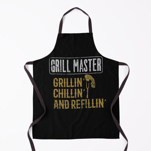 BBQ Grill Master Grillin Chillin Refillin  Apron