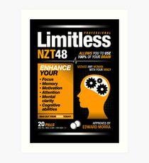 Limitless Pills - NZT 48 (Original Version) Art Print