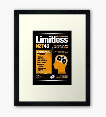Limitless Pills - NZT 48 (Original Version) Framed Print