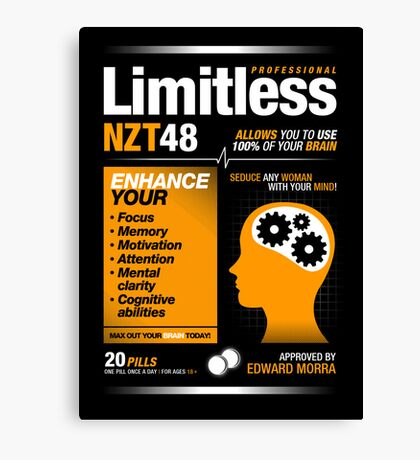 Limitless Pills - NZT 48 (Original Version) Canvas Print