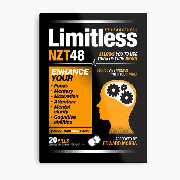 Limitless Pills - NZT 48 (Original Version) Metal Print