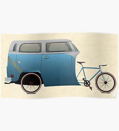 Camper Bike Poster