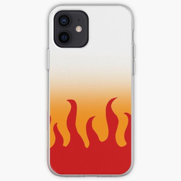 Demon Slayer Kyojuro Rengoku Haori Pattern iPhone Soft Case