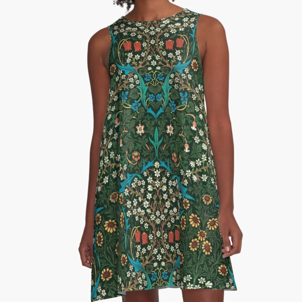 Blackthorn by William Morris, 1892 A-Line Dress