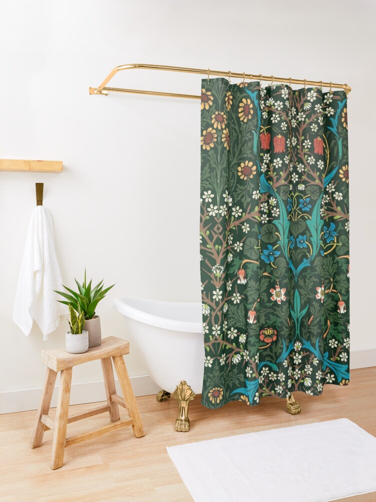 Alternate view of Blackthorn by William Morris, 1892 Shower Curtain