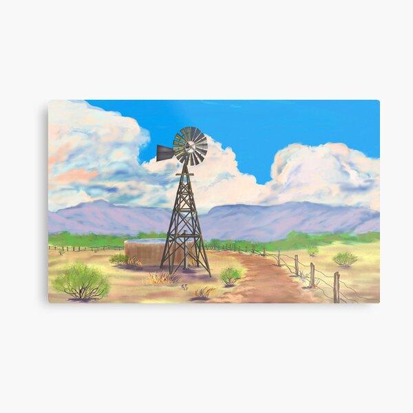 Southwest Windmill  Metal Print
