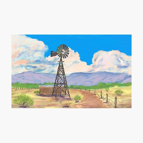 Southwest Windmill  Photographic Print