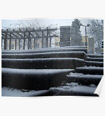 Snowy Steps Poster