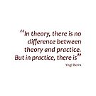 Theory and practice... (Amazing Sayings) by gshapley