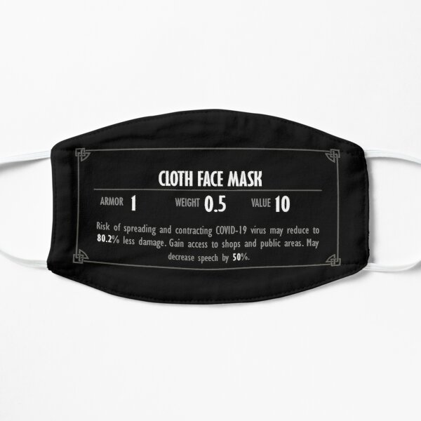 Description du masque en tissu Skyrim Masque sans plis