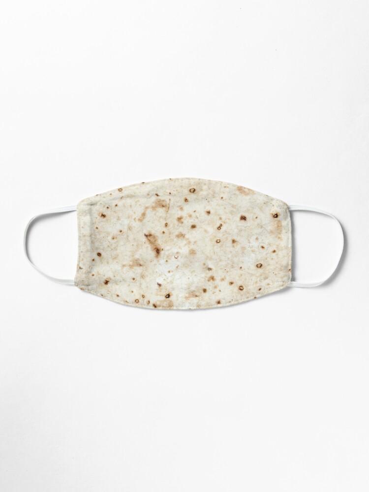 Alternate view of flour tortilla burrito  Mask