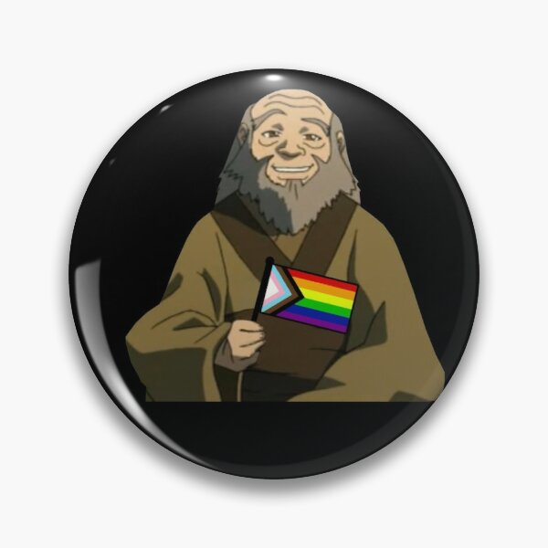 Uncle Iroh Pride Flag Pin