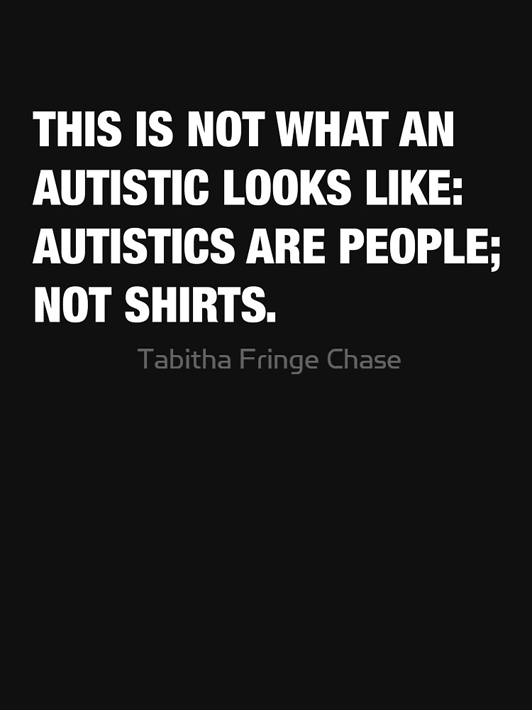 what an Autistic looks like by tabbychase