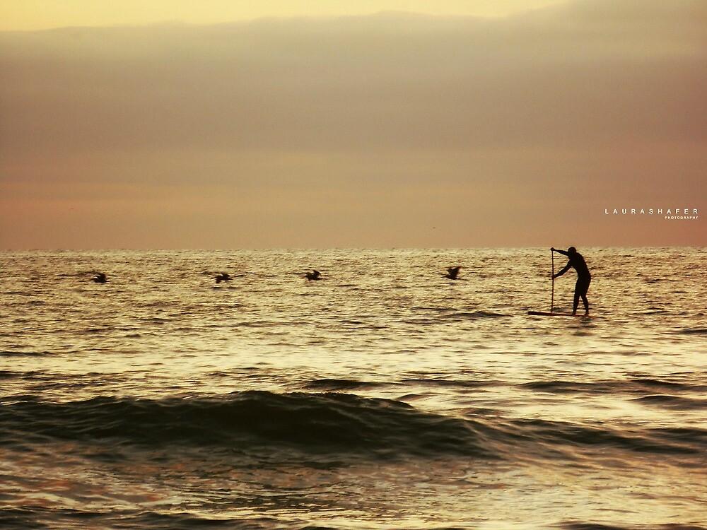 SUNSET SURFER by Laura E  Shafer