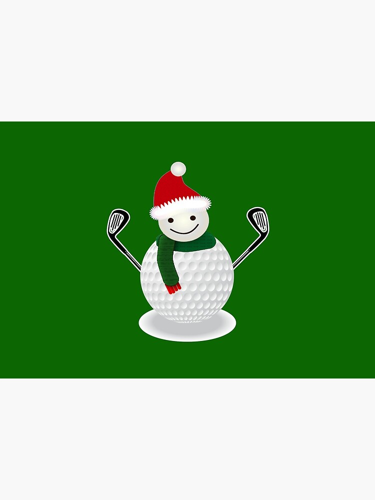 Golf Ball Snowman Funny Christmas T-shirt Golf lover by pcreations