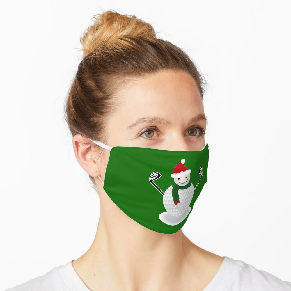 Golf Ball Snowman Funny Christmas T-shirt Golf lover Mask