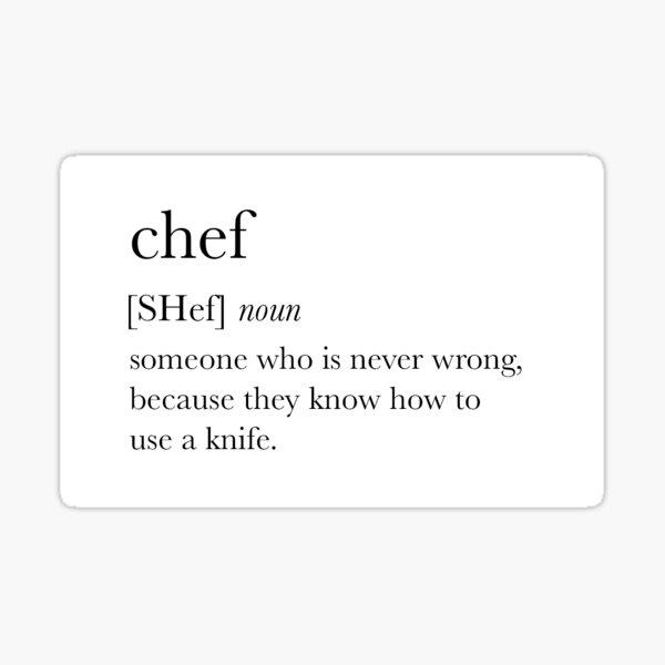 Chef Definition Sticker