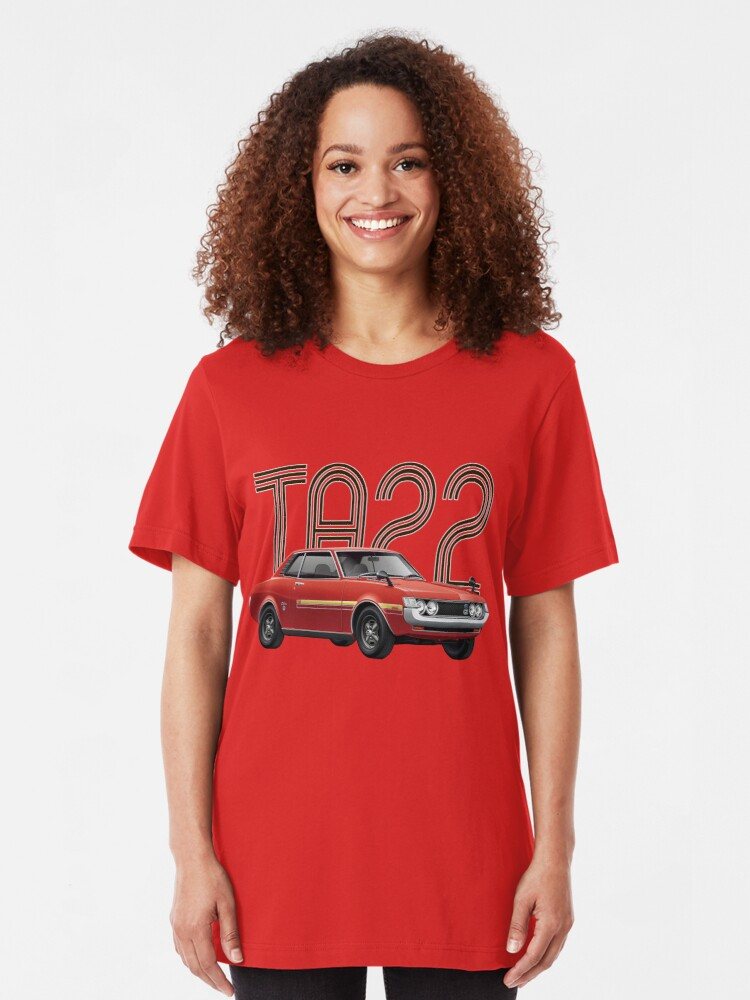 Alternate view of TA22 JDM Classic - Red Slim Fit T-Shirt