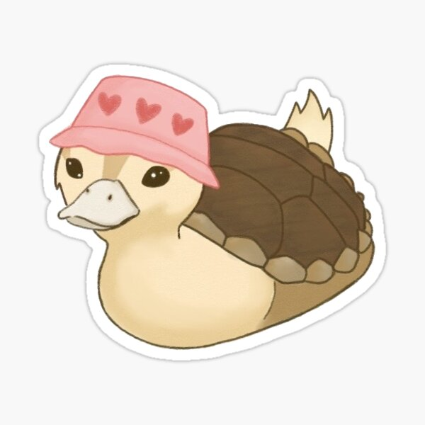 turtleduck wearing a bucket hat Sticker