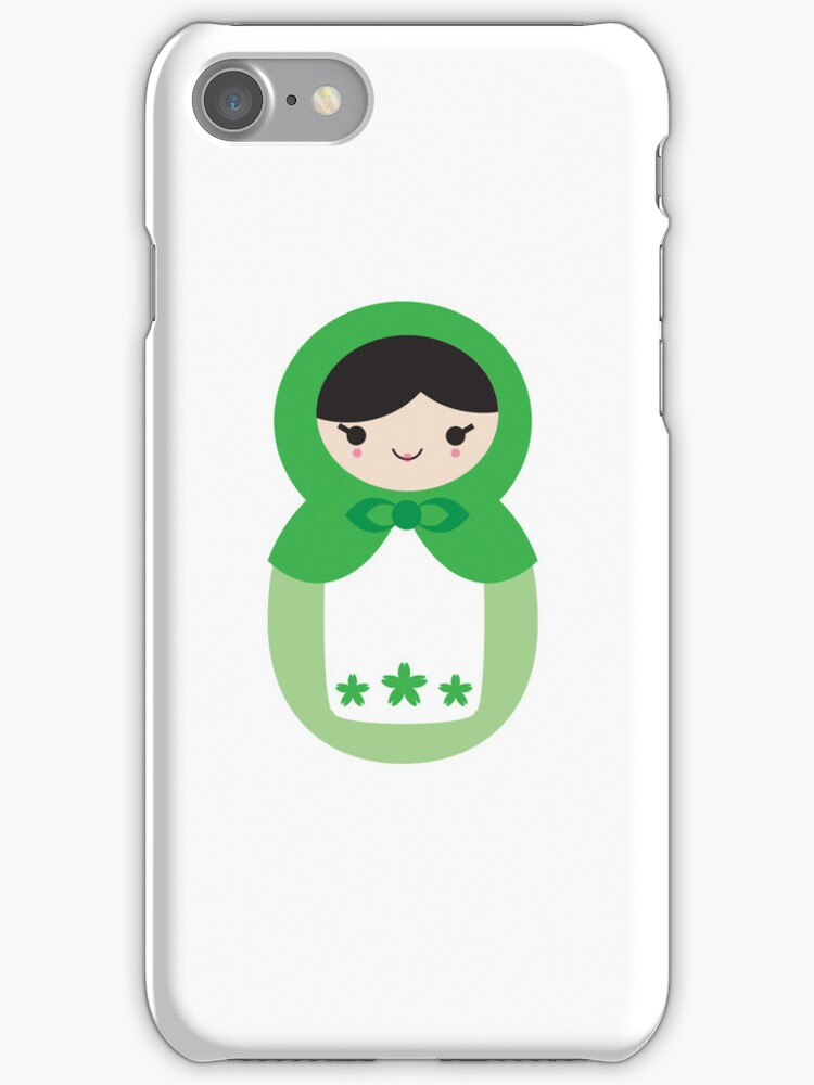 Matryoskha Doll - Peppermint Green by imaginarystory