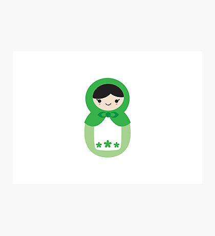 Matryoskha Doll - Peppermint Green Photographic Print