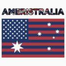 Ameristralia Flag (Text Four) by HeyHaydn