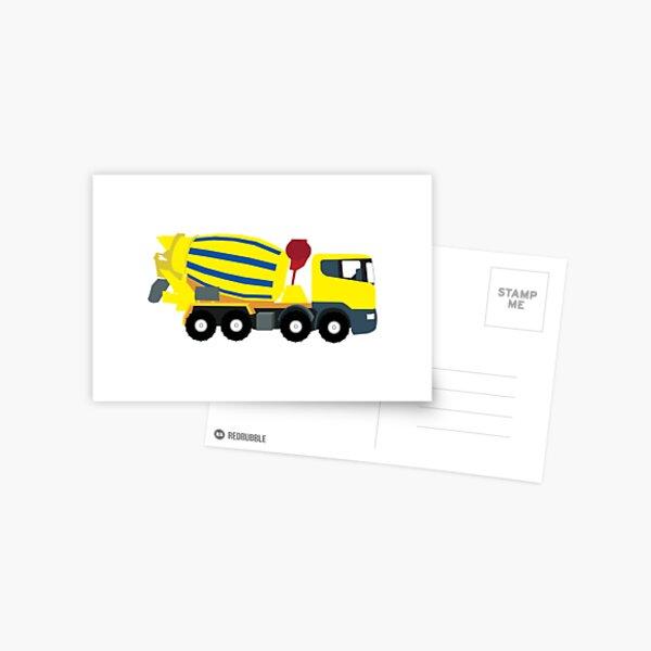 Concrete Cement Truck Construction Trucks Postcard