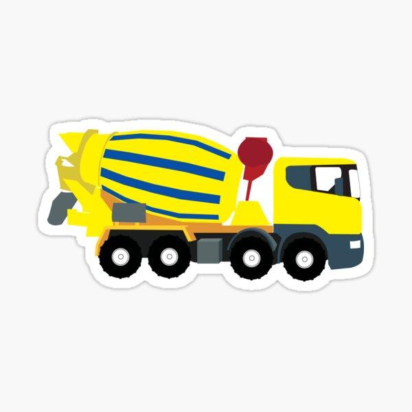 Concrete Cement Truck Construction Trucks Sticker