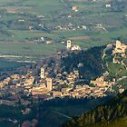 Assisi from Monte Subasio, Umbria, Italy by Andrew Jones