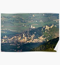 Assisi from Monte Subasio, Umbria, Italy Poster