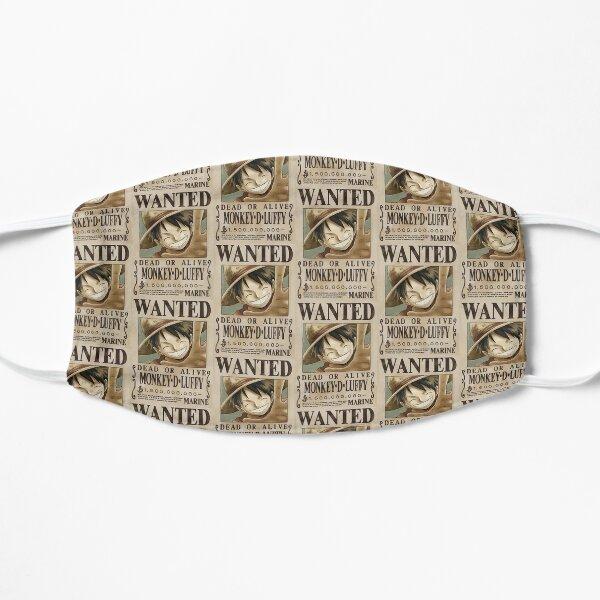 """""""Luffy Wanted"""" Anime Sticker  Flat Mask"""