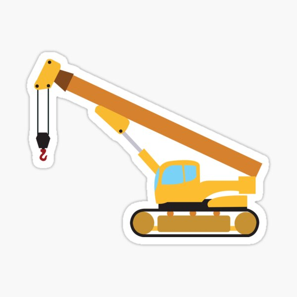 Crane Construction Truck Sticker