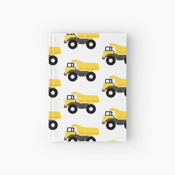 Dump Truck Construction Trucks Hardcover Journal