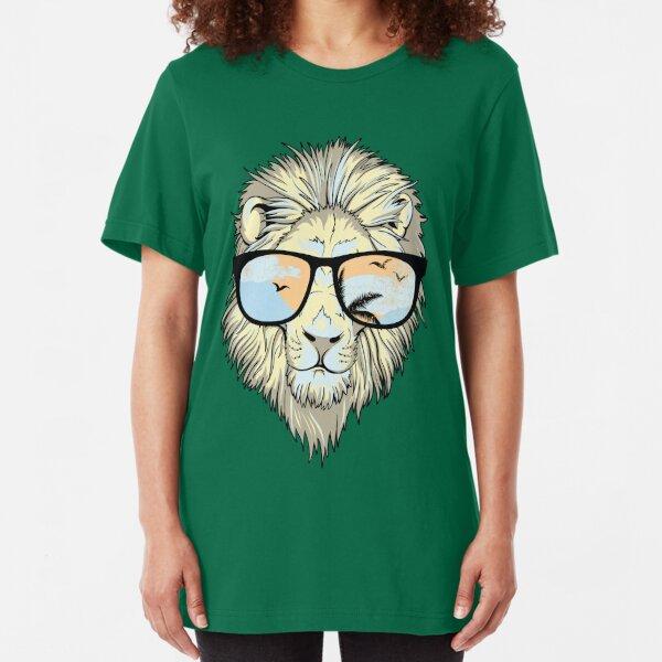 Sup ? Lion Sunglasses Slim Fit T-Shirt
