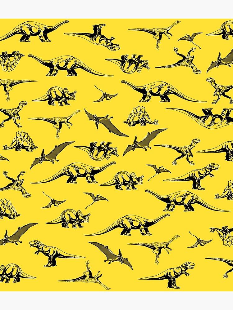 Dinosaurs on Yellow Background by kapotka