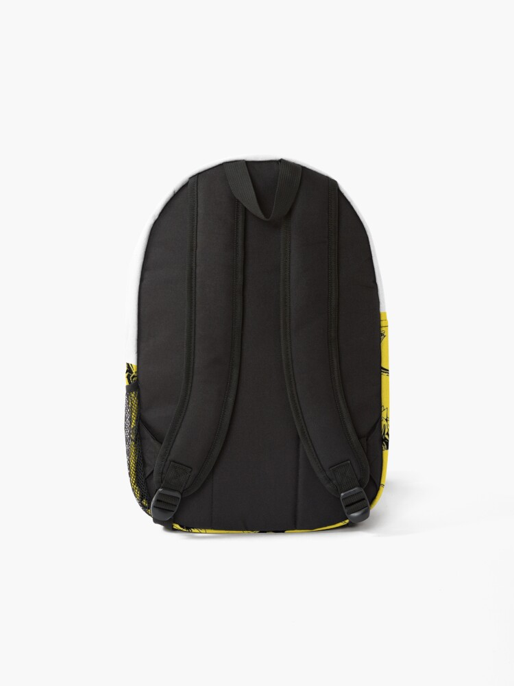 Alternate view of Dinosaurs on Yellow Background Backpack